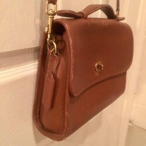 vintage caramel leather coach purse